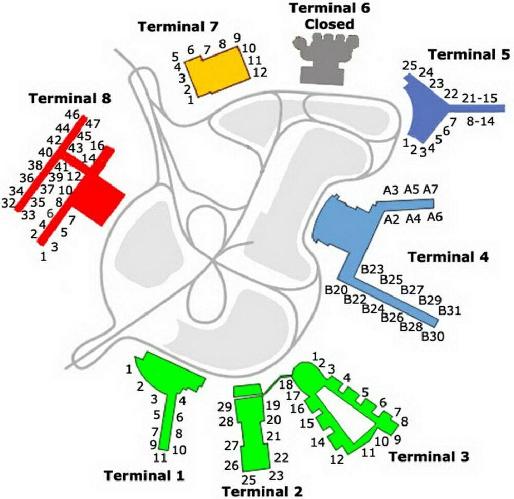 Jfk Airport Map Terminal 7 – Jerusalem House