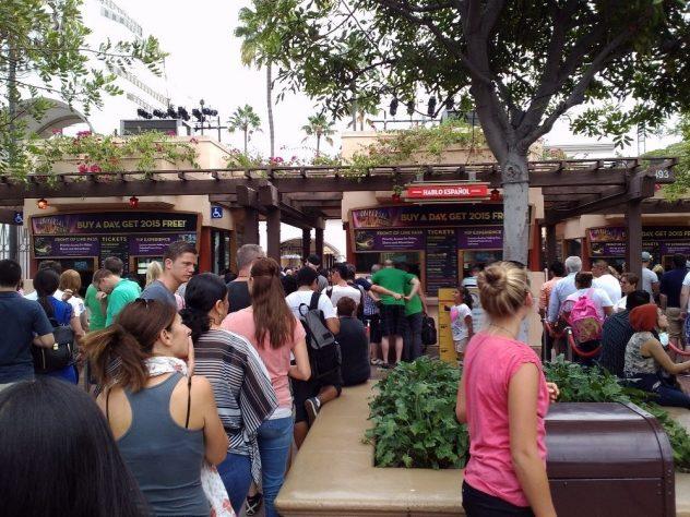 Universal Studios ticket line
