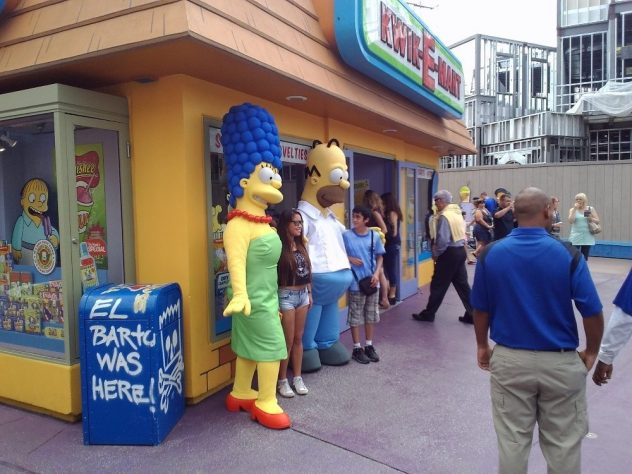 Simpsons in Universal Studios