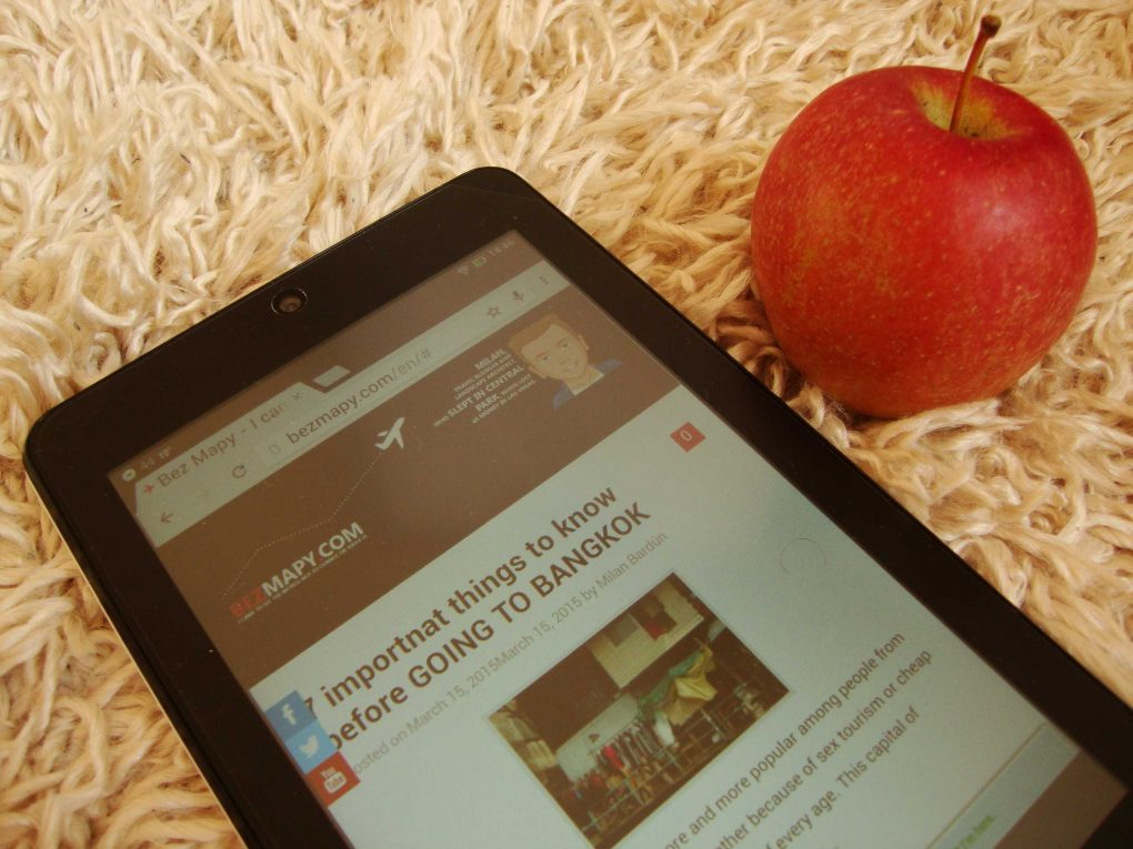 blog optimised for mobile