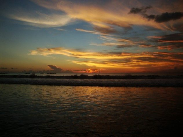 zapad slnka Bali