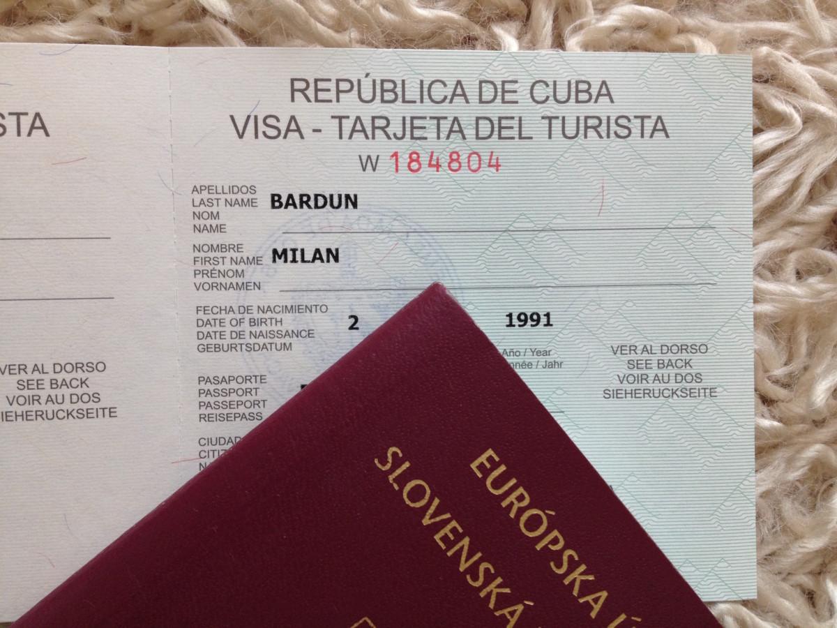 víza na Kubu