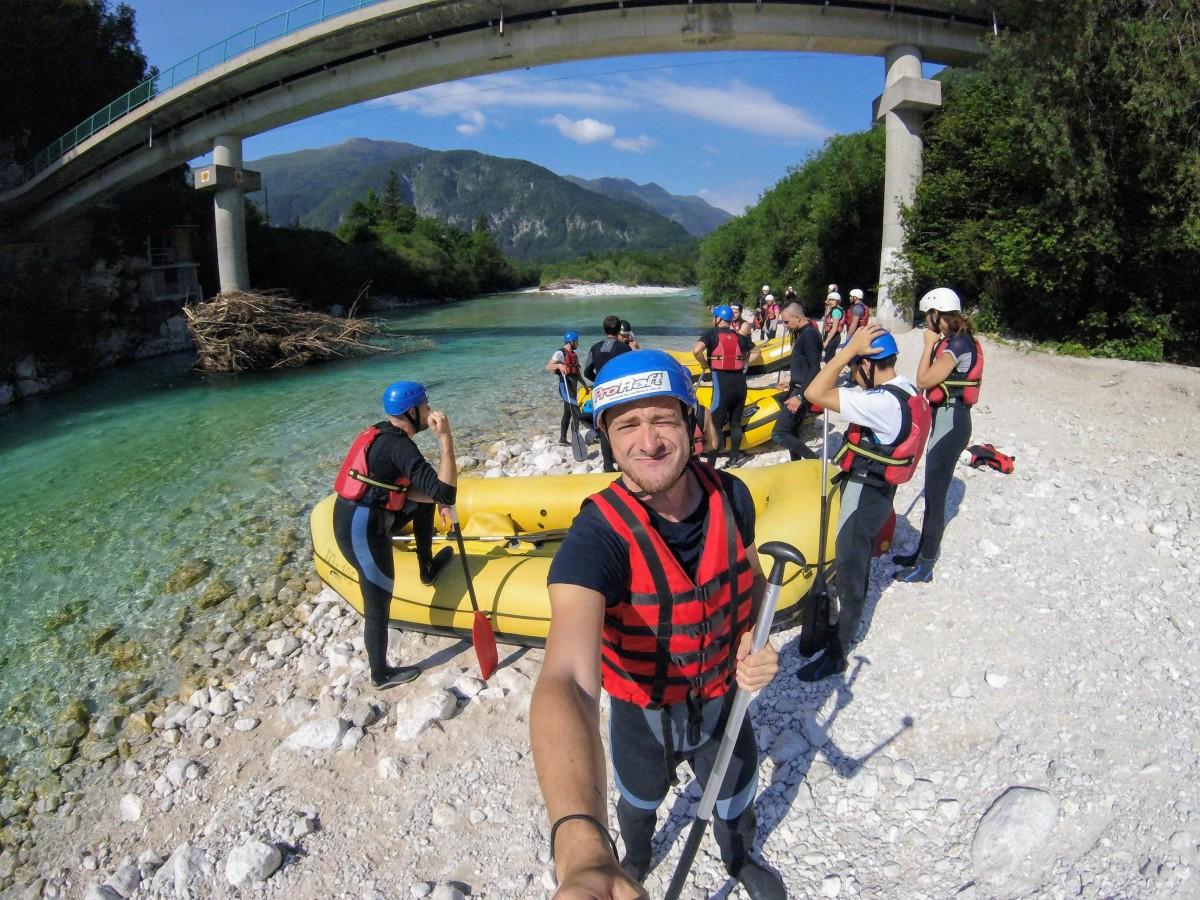 rafting v Slovinsku