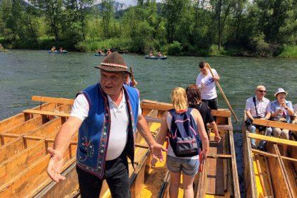 Splavovanie Dunajca plťou