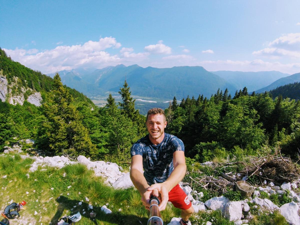 Zipline v Bovci v Slovinsku