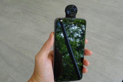 360 stupňová kamera Motorola Moto Mods 360