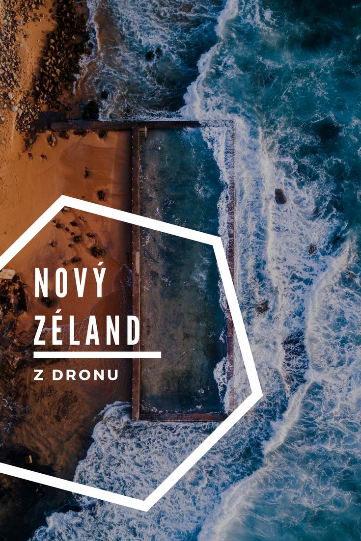 Nový Zéland z dronu