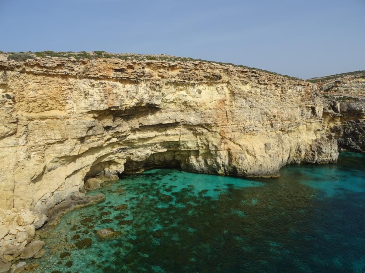 Modrá lagúna na Malte