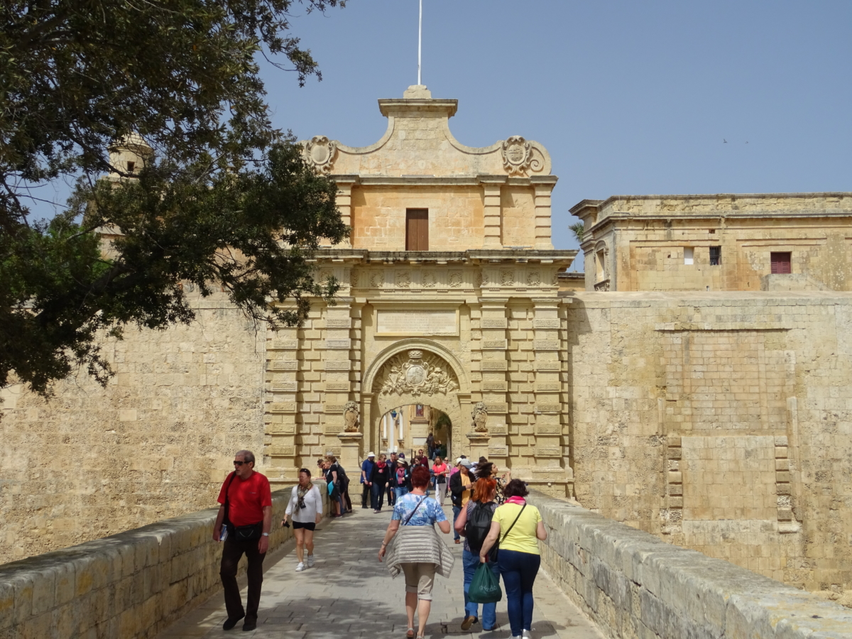 Mdina na Malte výlet brána game of thrones gate