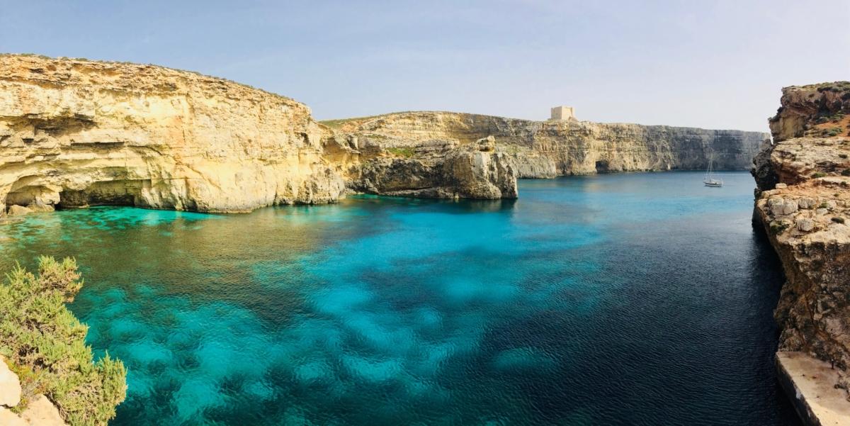 Krištáľová lagúna na Malte