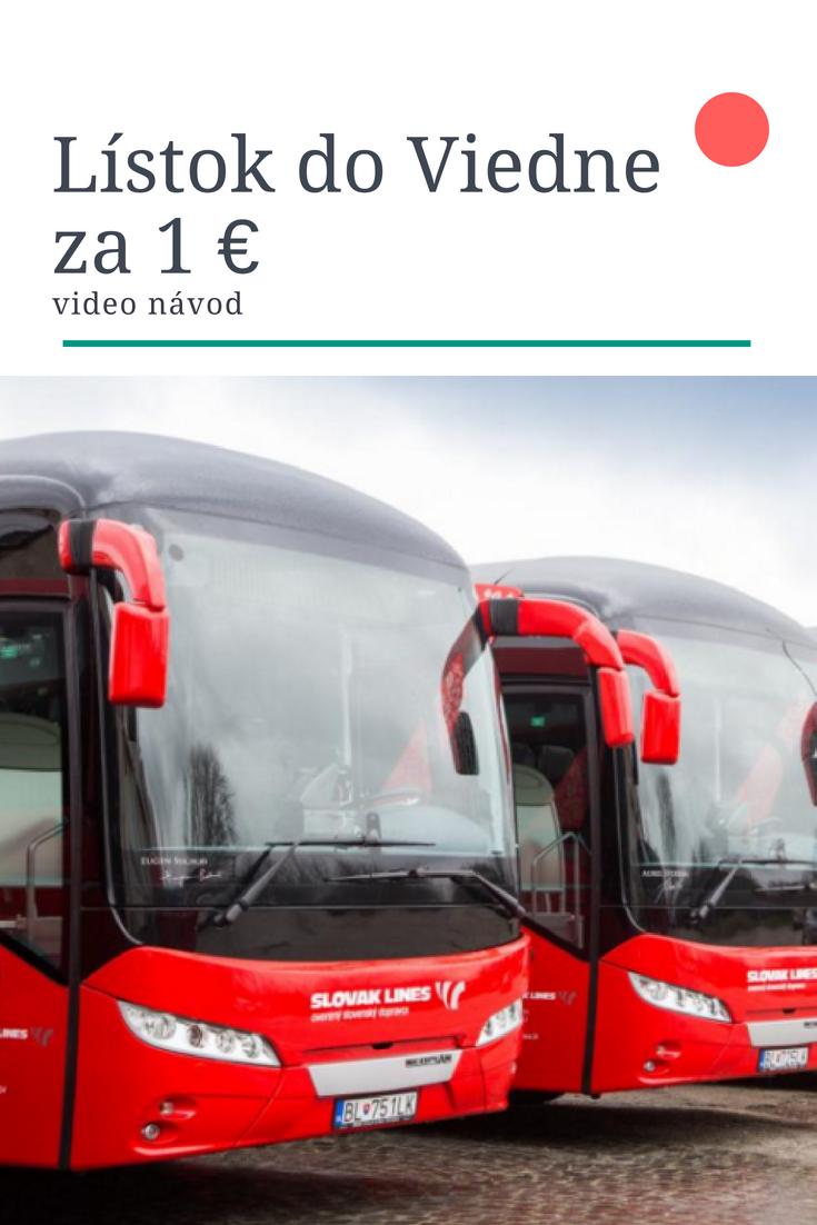 lístok do Viedne za euro