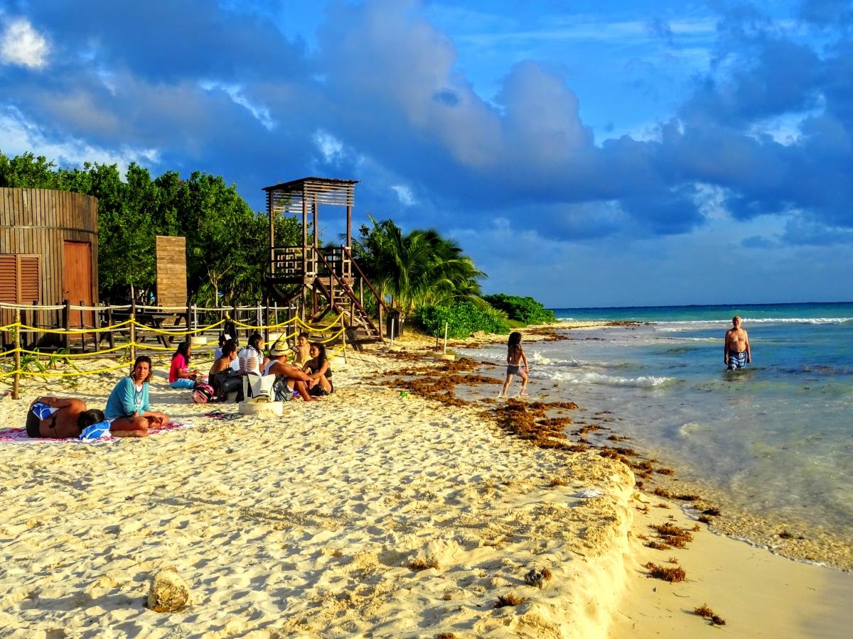 playa del carmen v mexiku