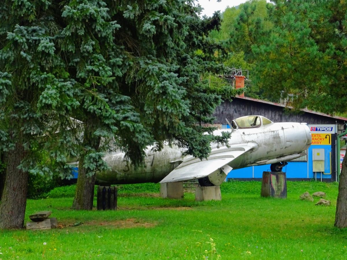 Lietadlo MIG 15 vo Vyhniach vyhne