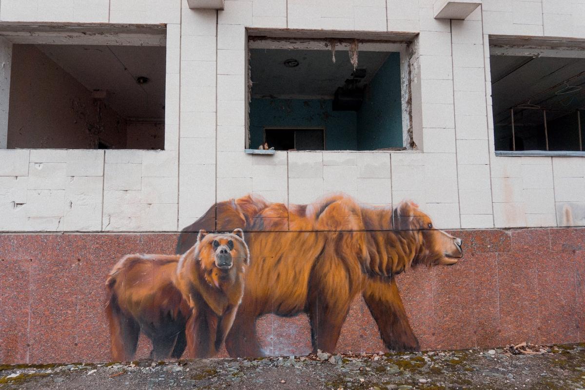 grafity v černobyle