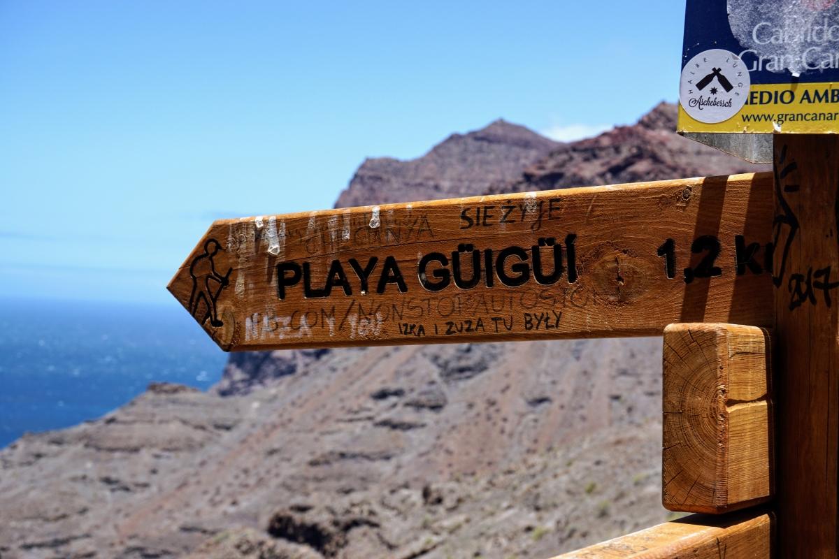 Výlet na pláž Playa Güigüí, celodenná túra a trek v horách na Gran Canarii