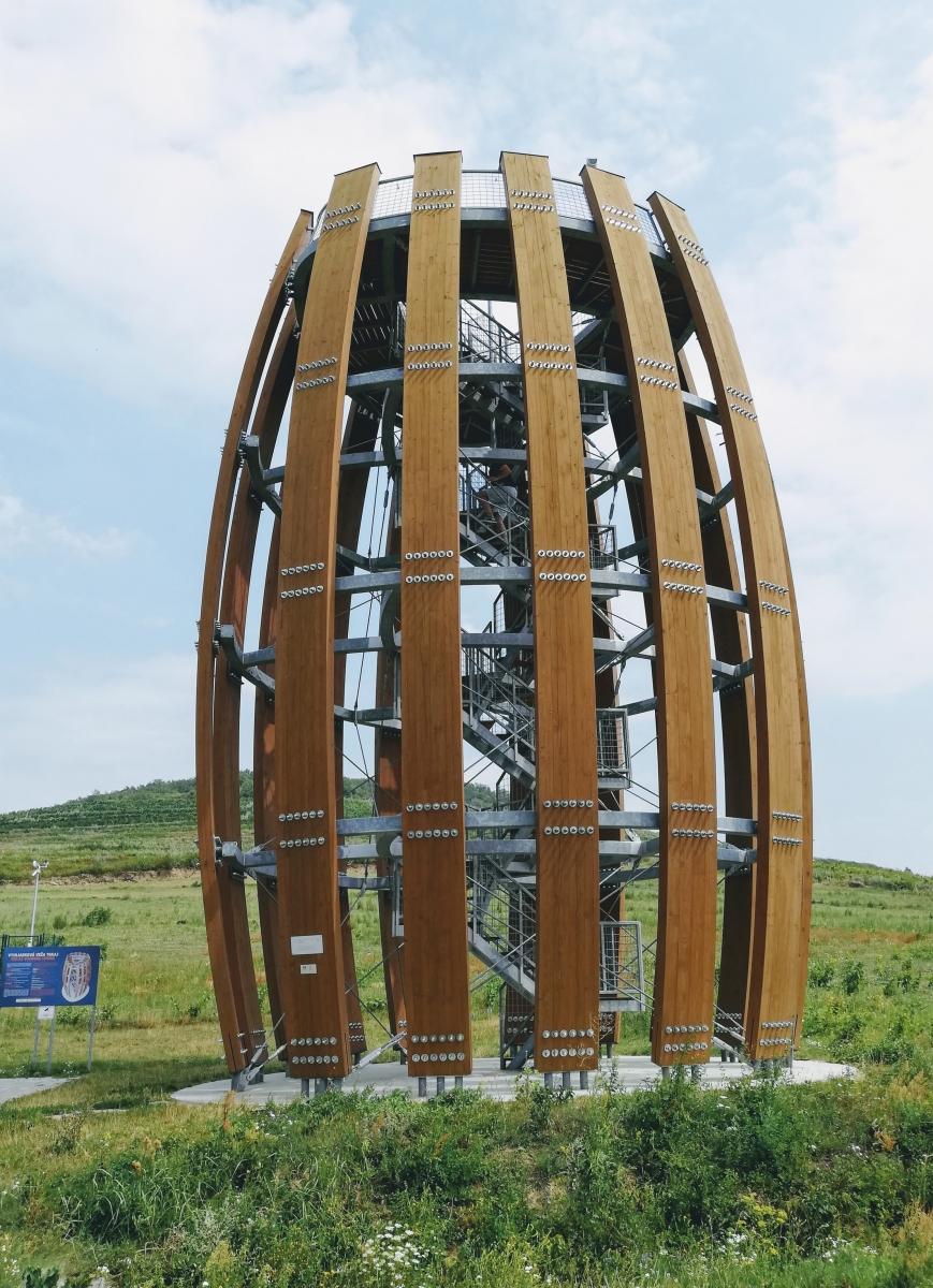 vyhliadková veža na tokaji v tvare suda