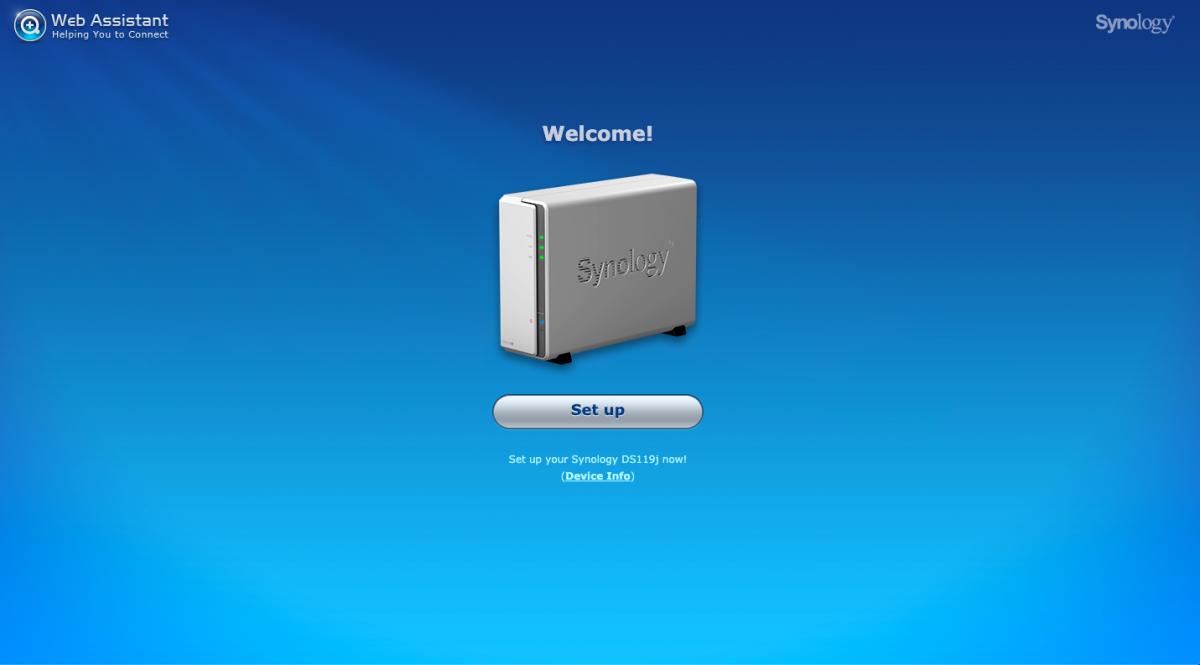 DS119j úvodná obrazovka