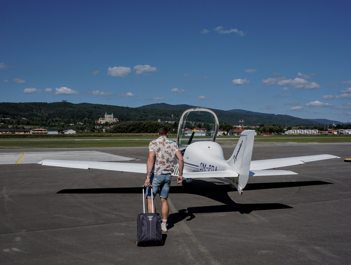 Lietadlo WT-9 Dynamic v aeroklube Prievidza