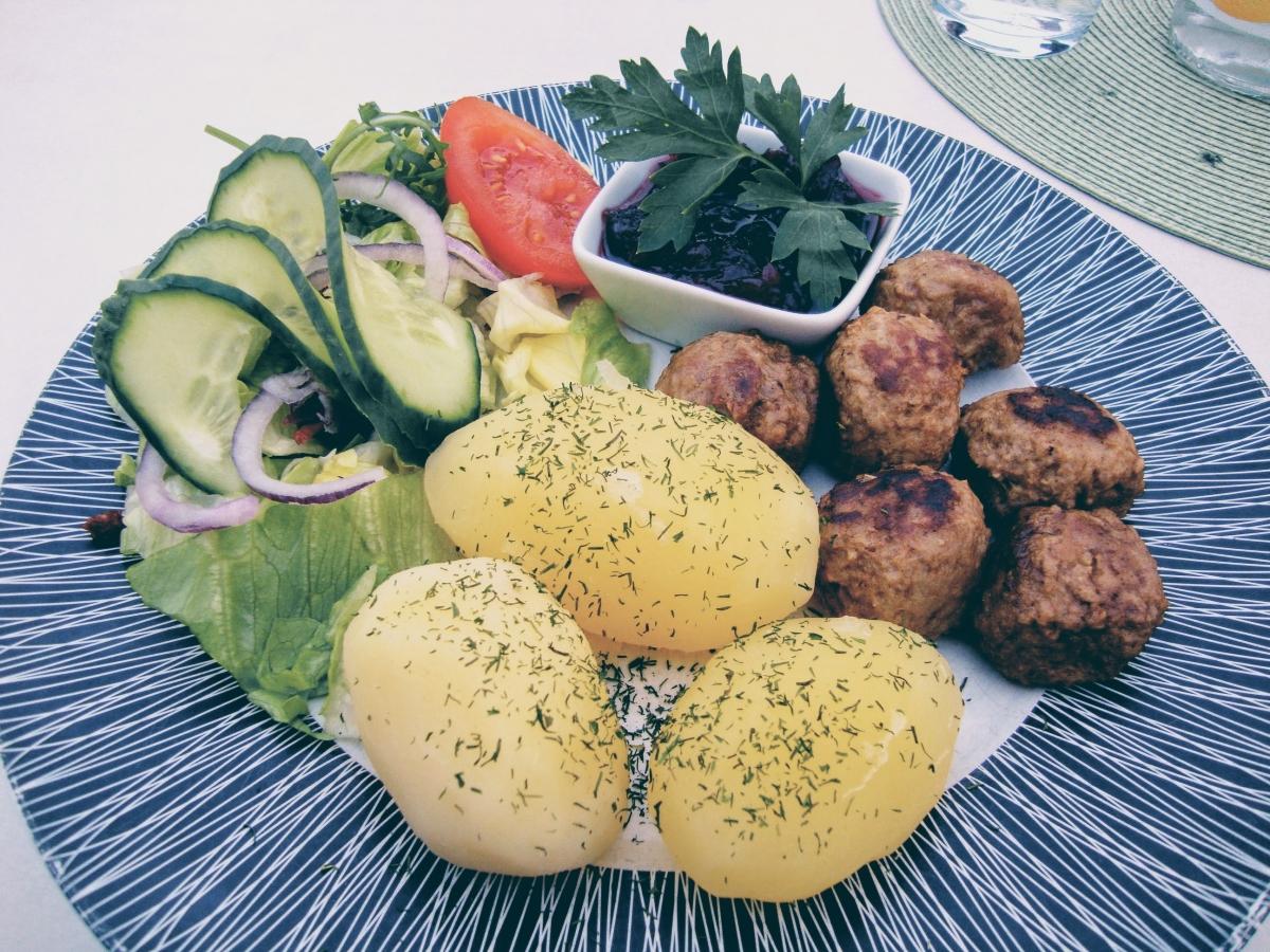 švédske mäsové guličky