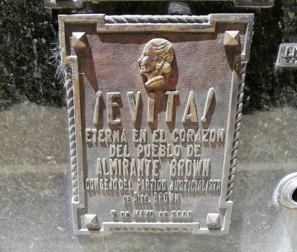 Cintorín Recoleta a hrob Evy Perón (Evity) v Buenos Aires
