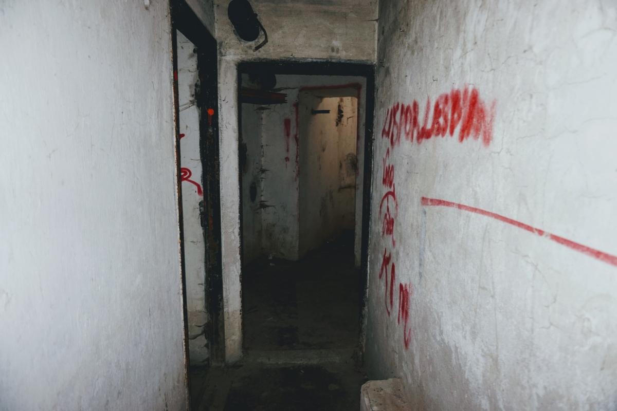 """Vo vnútri vonejského bunkru B-S 1 """"Štěrkovište"""""""