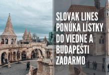 Slovak Lines spúšťa Travel Pass na cestovanie do Viedne a Budapešti zadarmo