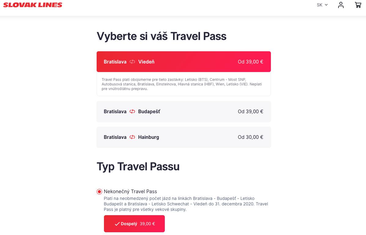 Lístky na autobus do Viedne a Budapešti zadarmo s Travel Pass od Slovak Lines