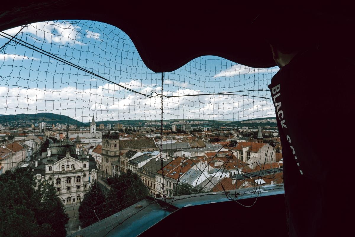 Výhľad z Dómu svätej Alžbety na Košice