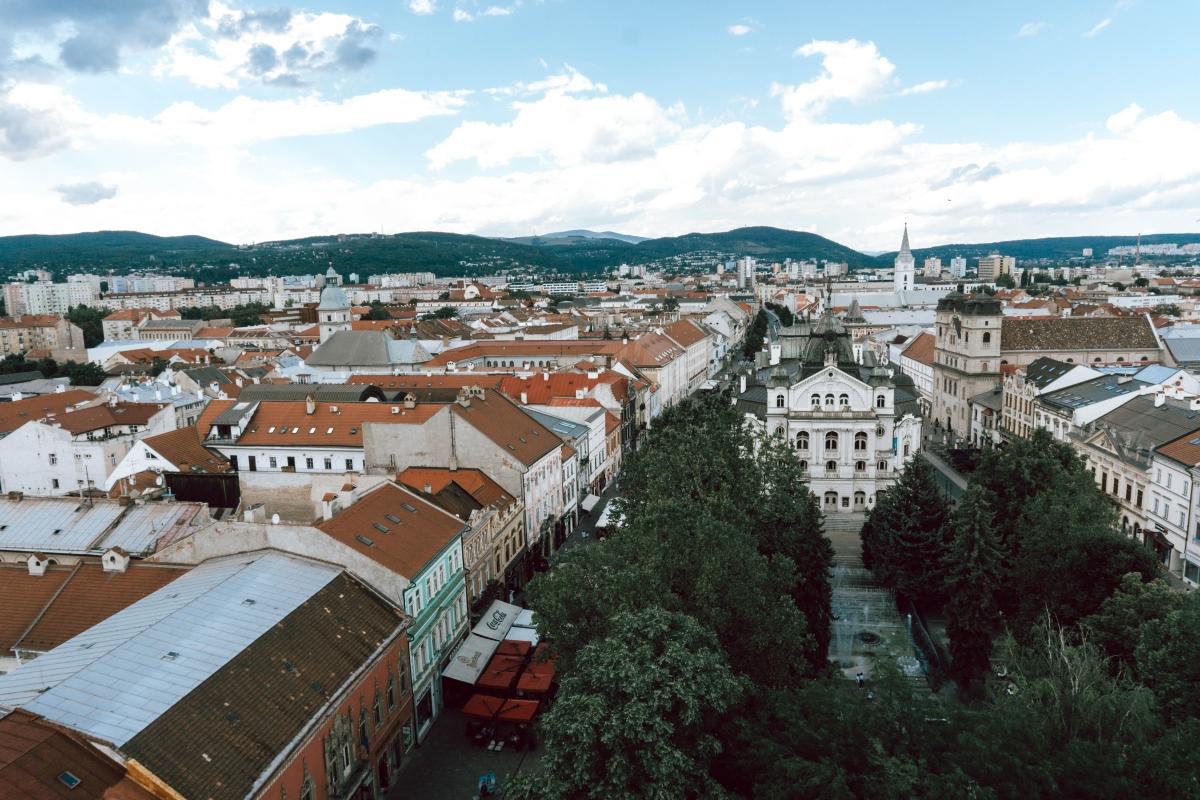 Pohľad z Dómu svätej Alžbety na Košice