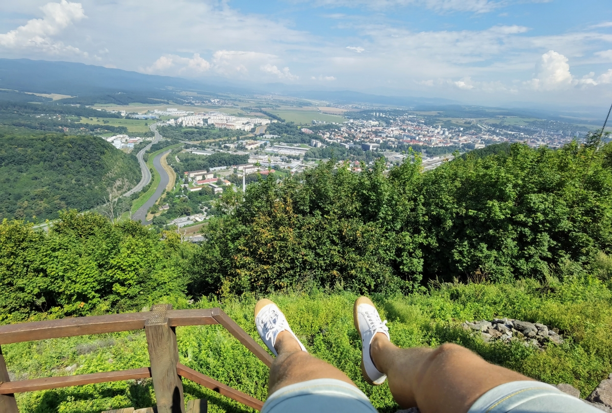 Výhľad z Pustého hradu.