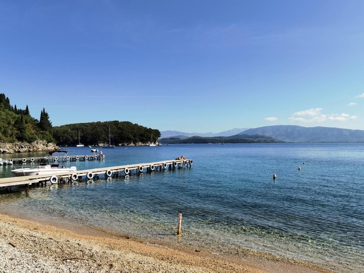 Agni Beach na Korfu