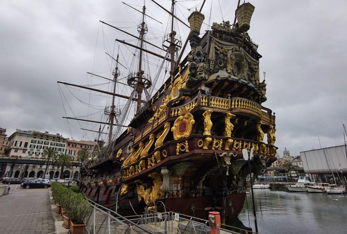 Pirátska loď v Janove
