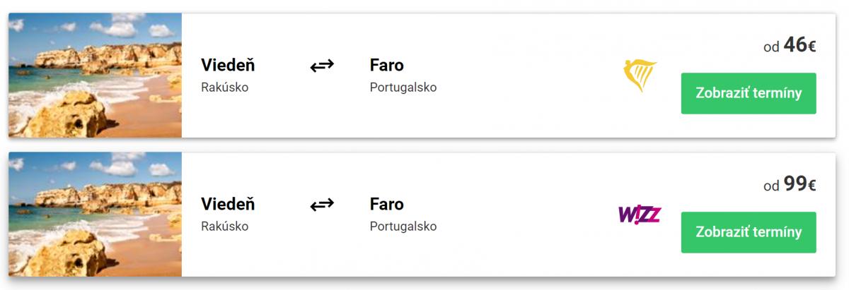 Lacné letenky do Faro
