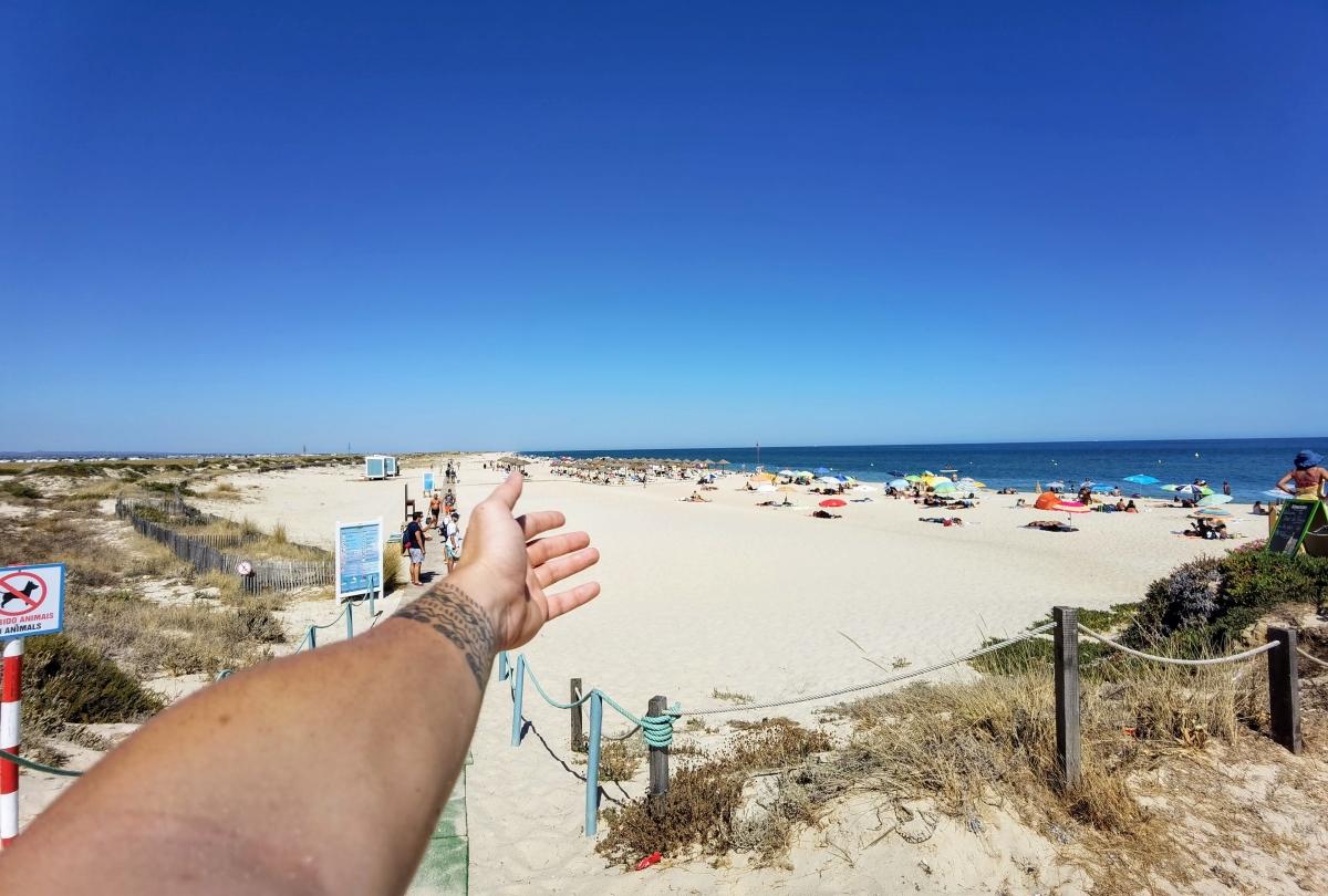 Ilha de Farol a pláž