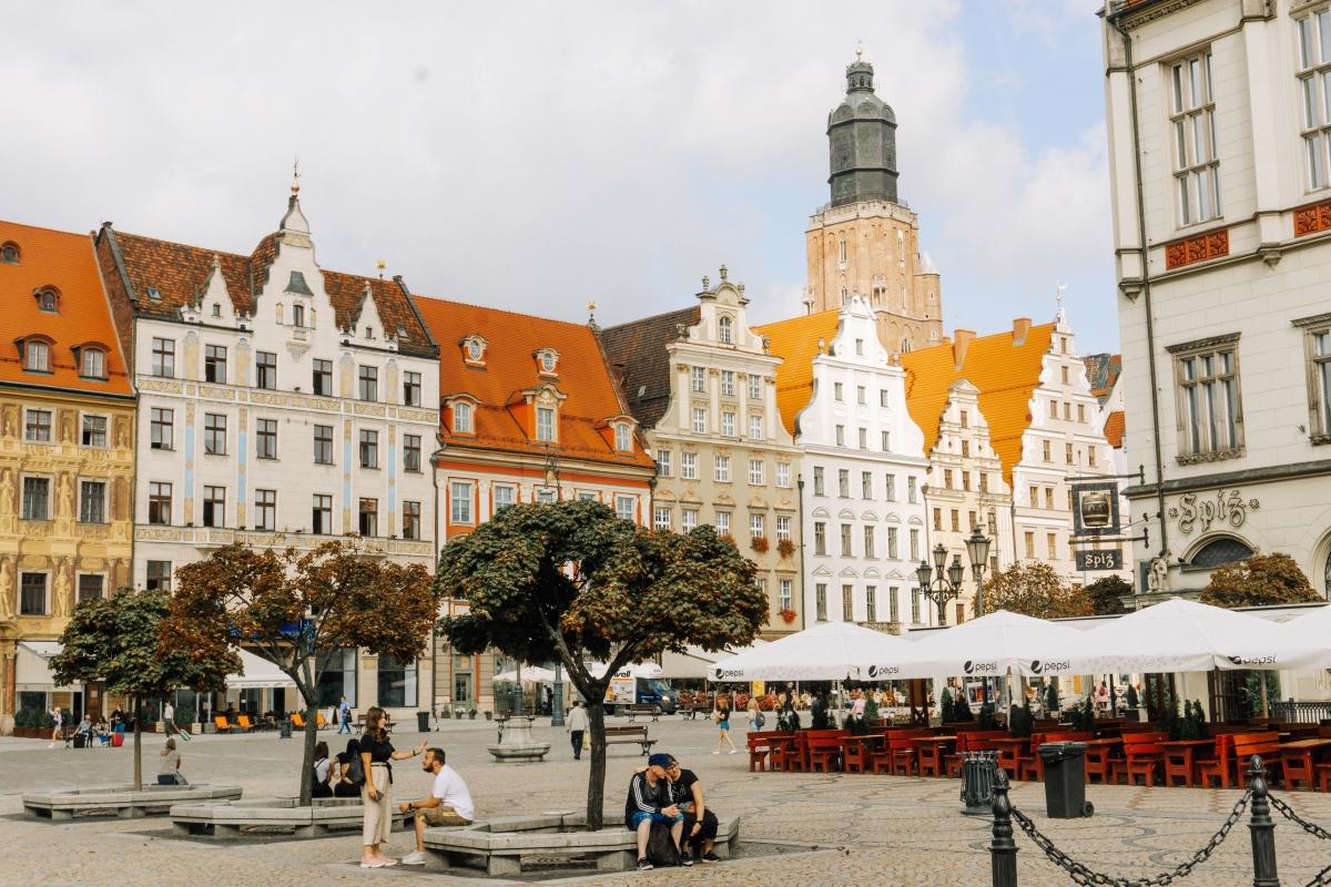 Hlavné námestie v centre Vroclavu